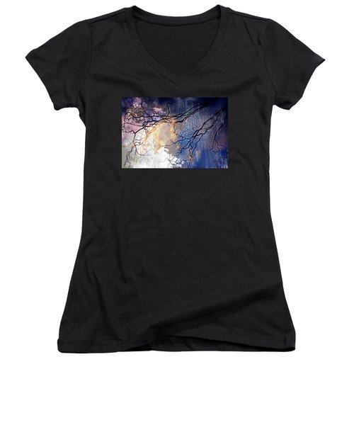 Brilliant Rain Women's V-Neck T-Shirt (Junior Cut) by Gray  Artus