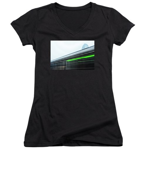 Broadway Bridge Abstract 2 Chromatic Women's V-Neck (Athletic Fit)
