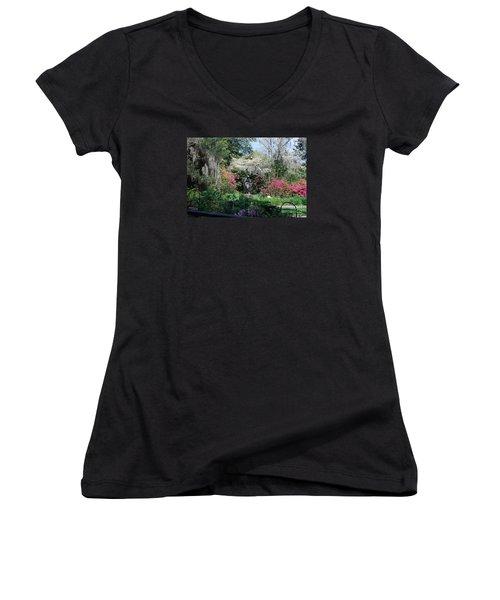 Brookgreen Gardens 2 Women's V-Neck T-Shirt
