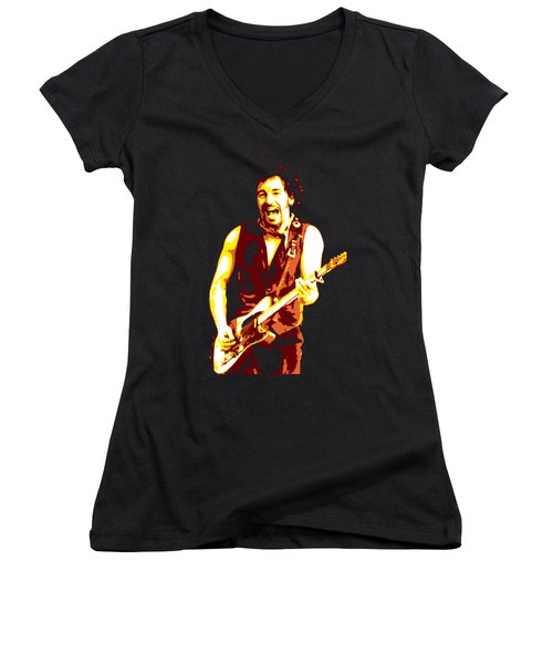 Bruce Springsteen Women's V-Neck (Athletic Fit)