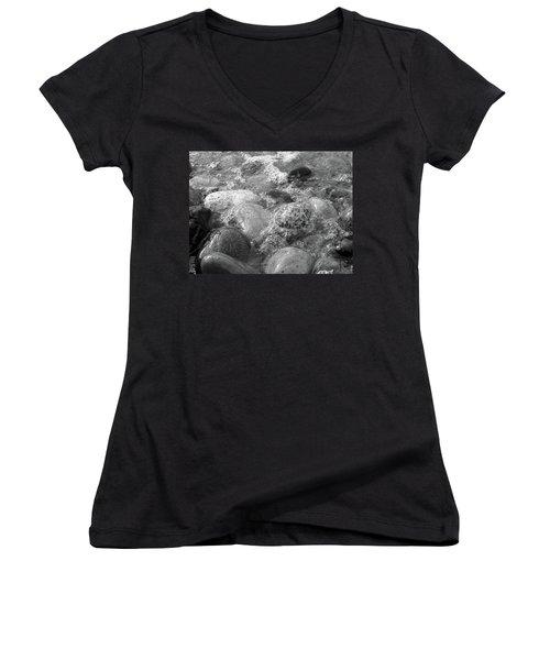 Bubbling Stones Women's V-Neck T-Shirt