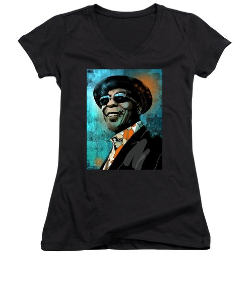 Buddy Guy Women's V-Neck (Athletic Fit)