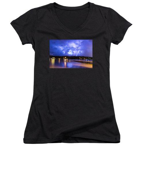 Buffalo Springs Lightning 2 Women's V-Neck T-Shirt