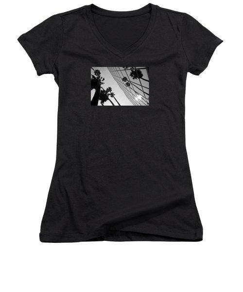 Building On Hollywood 3 Women's V-Neck T-Shirt