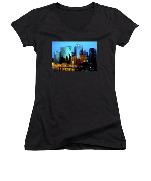Reflections On The Canal Women's V-Neck (Athletic Fit)