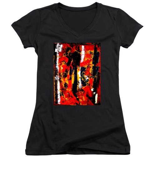 Burning Bright Women's V-Neck (Athletic Fit)