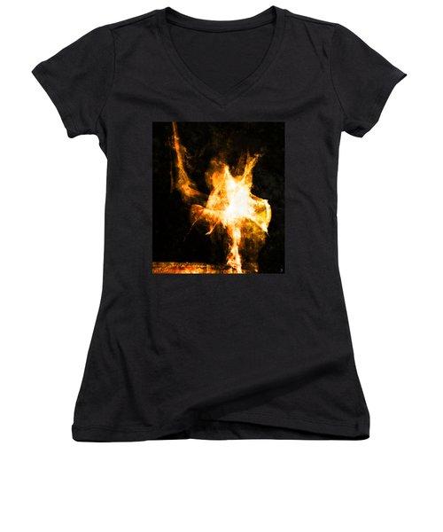 Burning Man Women's V-Neck (Athletic Fit)