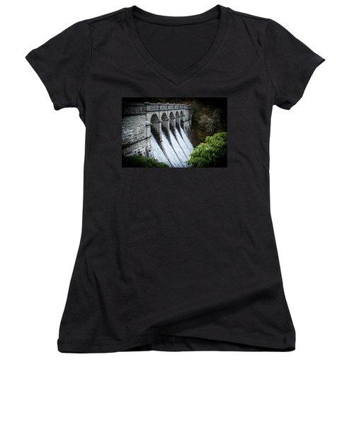 Burrator Reservoir Dam Women's V-Neck
