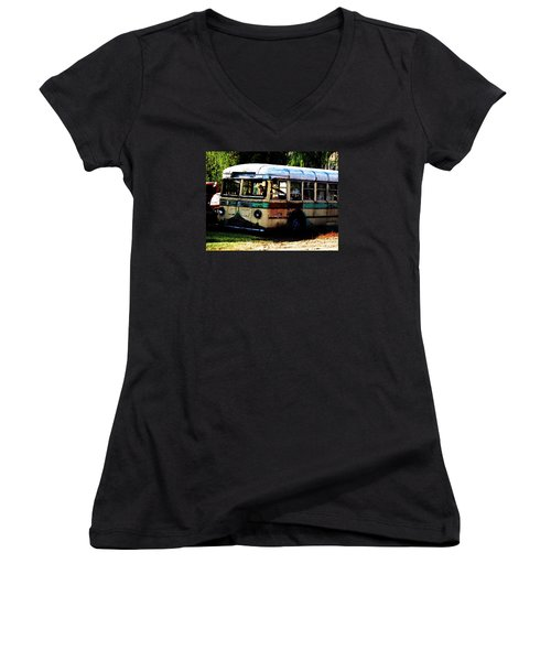 Bus Stop Women's V-Neck T-Shirt