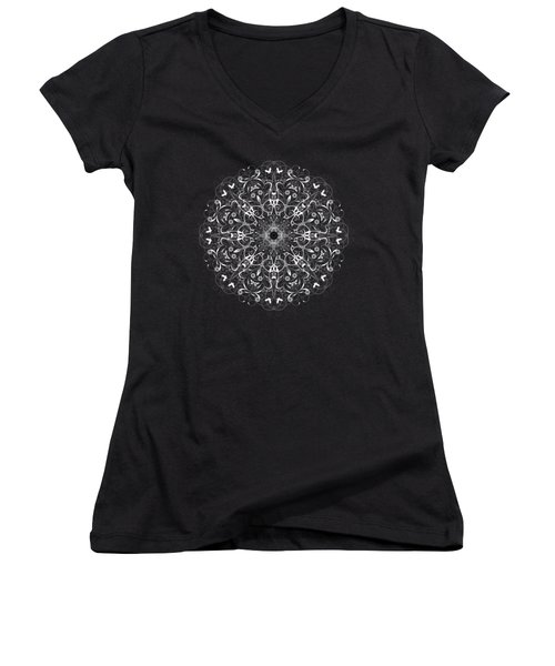 Butterflies And Grapes Inverted Women's V-Neck (Athletic Fit)