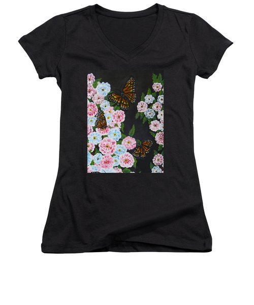 Butterfly Beauty Women's V-Neck