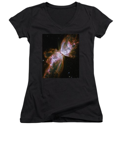 Butterfly Nebula Women's V-Neck T-Shirt