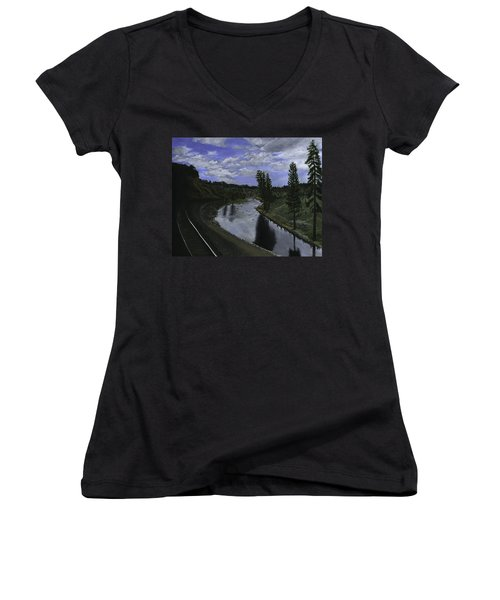 By Rail Women's V-Neck (Athletic Fit)