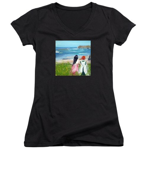 By The Shores By Colleen Ranney Women's V-Neck