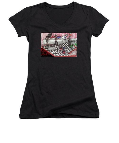 Cafe Bacteria Women's V-Neck T-Shirt