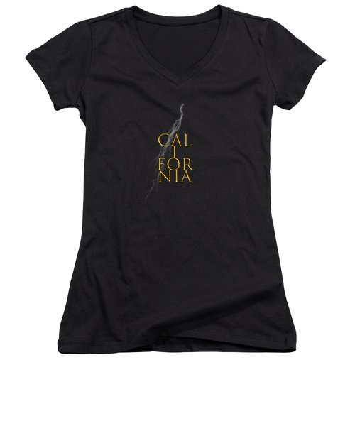 California Text Women's V-Neck (Athletic Fit)