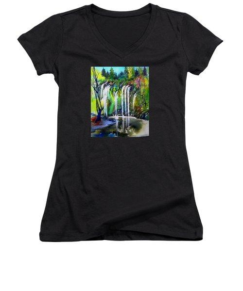 California Water Fall Women's V-Neck T-Shirt
