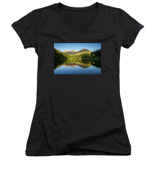 Californian Summer In Glencoe Women's V-Neck T-Shirt (Junior Cut) by Stephen Taylor