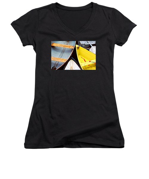 Camden Dories Photo Women's V-Neck T-Shirt