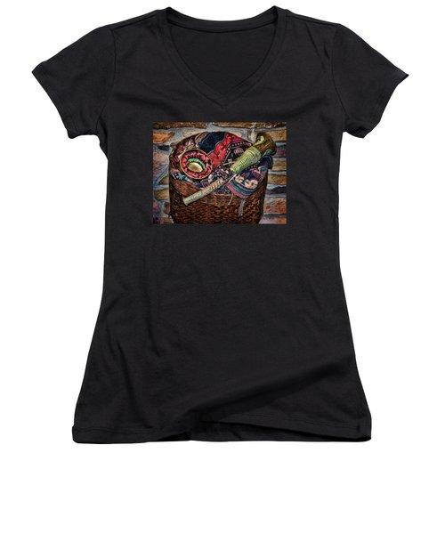 Camelback 8845 Women's V-Neck T-Shirt (Junior Cut) by Sylvia Thornton