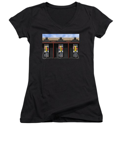 Can You Hear Me Now Women's V-Neck (Athletic Fit)