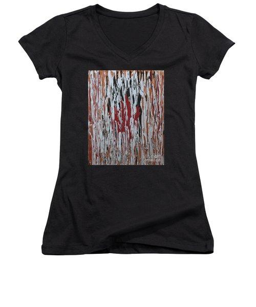 Canada Cries Women's V-Neck T-Shirt (Junior Cut) by Cathy Beharriell