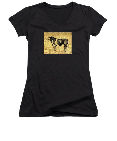 Canadian Champion 12 Women's V-Neck T-Shirt (Junior Cut) by Larry Campbell