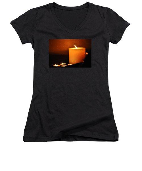 Candlelight Women's V-Neck