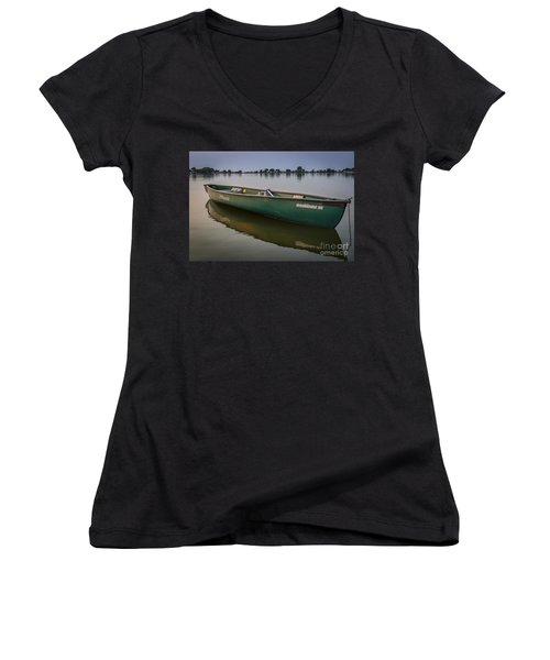 Canoe Stillness Women's V-Neck T-Shirt