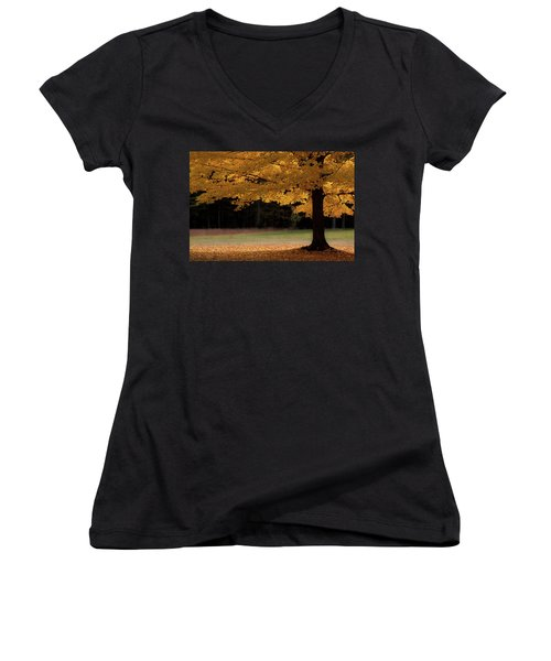 Canopy Of Autumn Gold Women's V-Neck