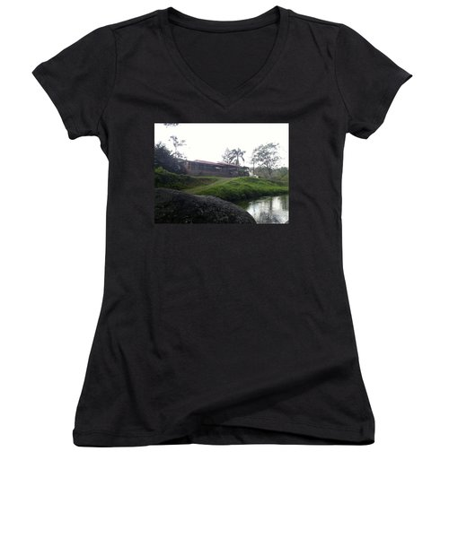 Cantine By The River Women's V-Neck (Athletic Fit)