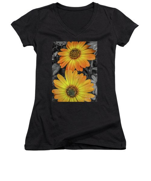 Cape Daisy's - Orange Women's V-Neck