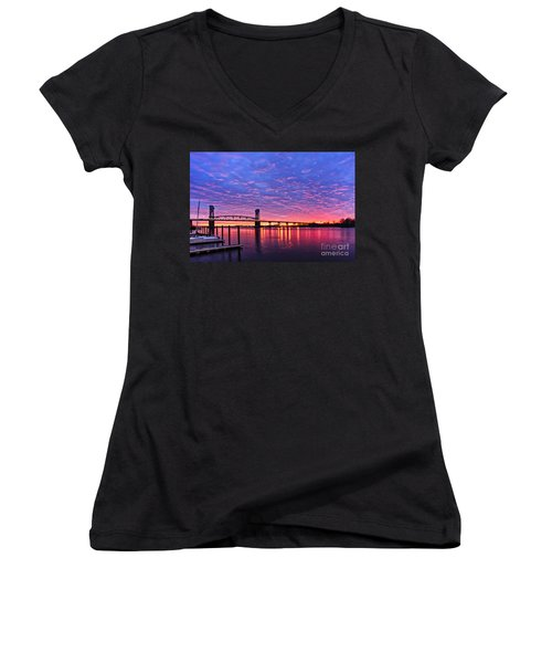 Cape Fear Bridge1 Women's V-Neck