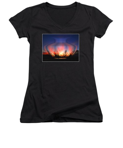 Women's V-Neck T-Shirt (Junior Cut) featuring the photograph Capricorn Morning by Joyce Dickens