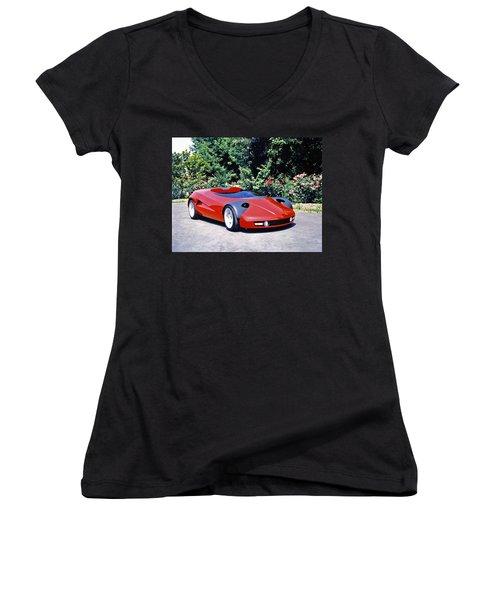 Car Women's V-Neck