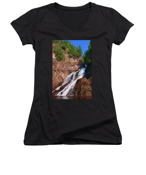 Caribou Falls Women's V-Neck T-Shirt
