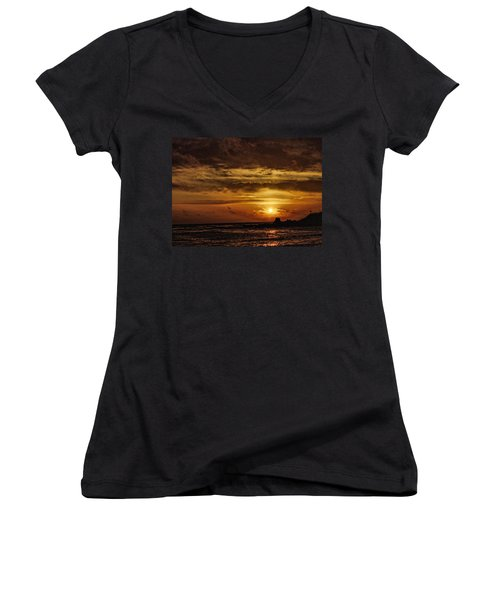 Carmel Sunset Women's V-Neck T-Shirt