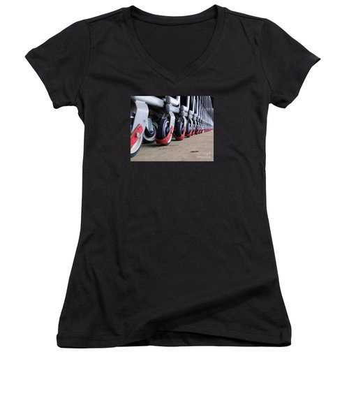 Cart Wheels Women's V-Neck (Athletic Fit)