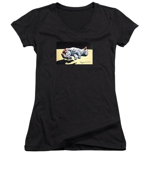 Cat-1 Women's V-Neck T-Shirt