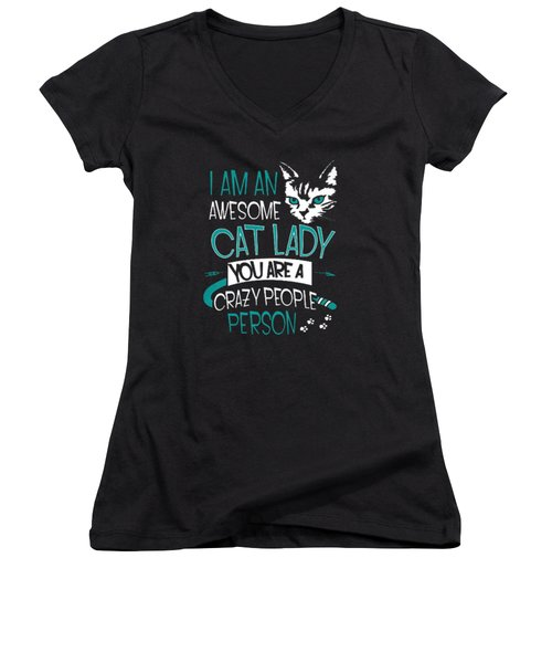 Cat Lady Women's V-Neck T-Shirt