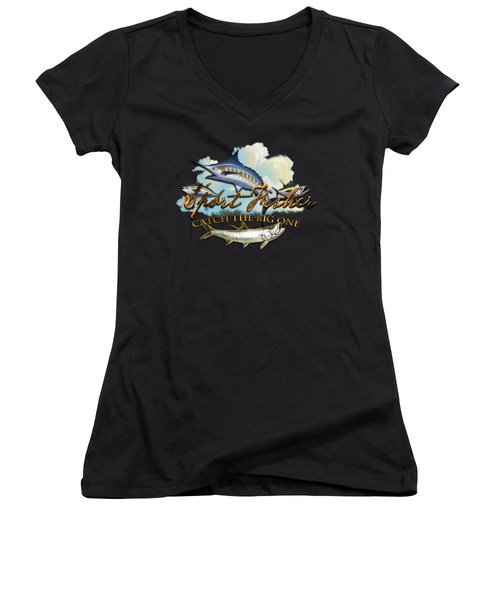 Catch The Big One Women's V-Neck (Athletic Fit)