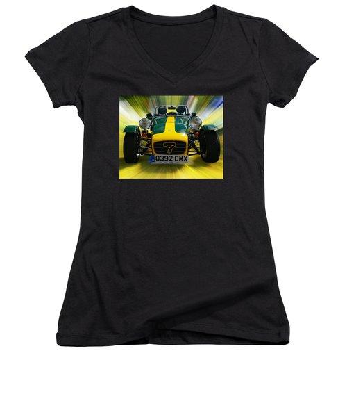Caterham 7 Women's V-Neck T-Shirt