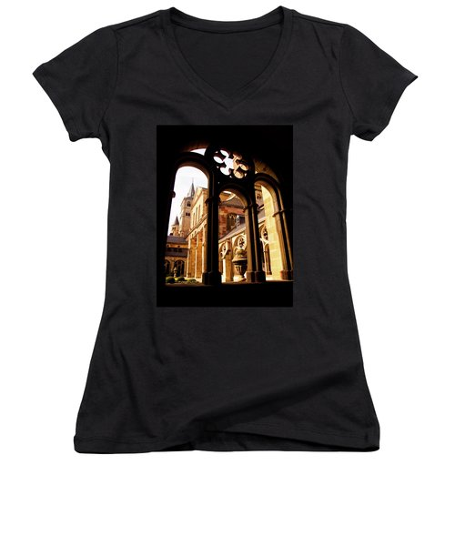 Cathedral Of Trier Window Women's V-Neck (Athletic Fit)