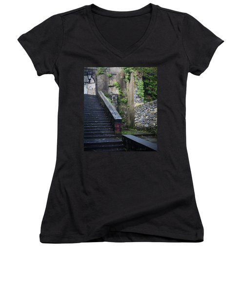 Cathedral Stairs Women's V-Neck