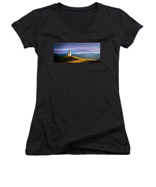 Cattle Point Lighthouse Women's V-Neck