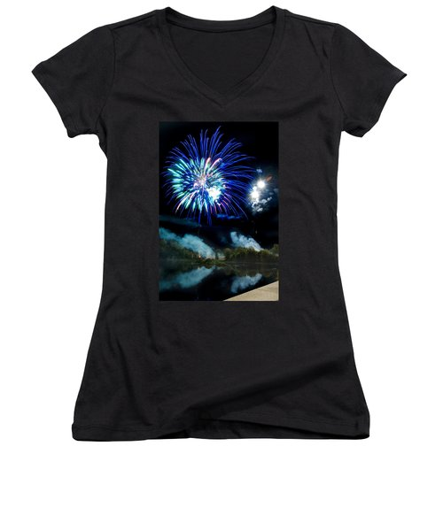 Celebration II Women's V-Neck T-Shirt (Junior Cut) by Greg Fortier