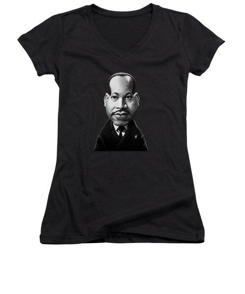 Celebrity Sunday - Martin Luther King Women's V-Neck