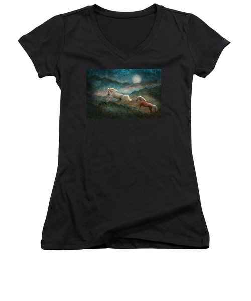 Celestial Stallions Women's V-Neck (Athletic Fit)