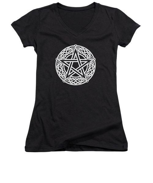 Celtic Pentagram Women's V-Neck