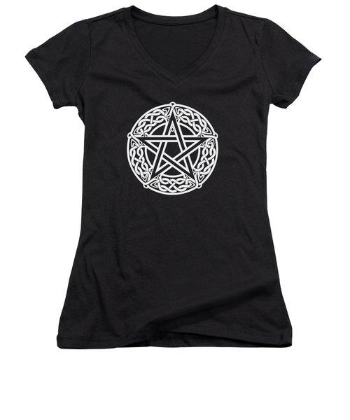 Celtic Pentagram Women's V-Neck (Athletic Fit)
